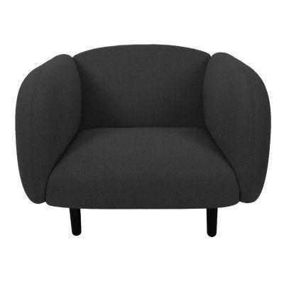 Moïra armchair dark grey fabric