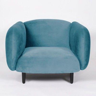Moïra armchair sky blue velvet