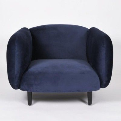 Moïra armchair night blue velvet