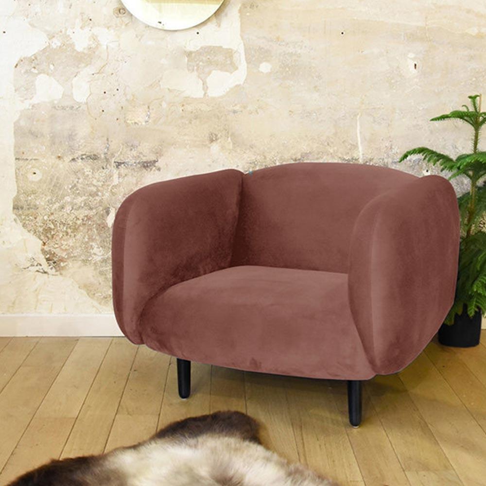 Moïra armchair pink velvet