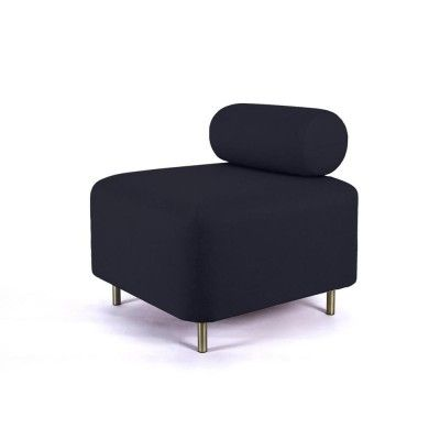 Bovari ottoman night blue velvet ENOstudio
