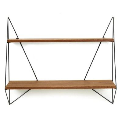 Butterfly shelf single brown wood