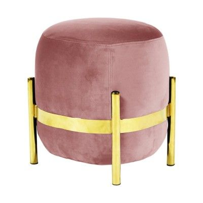 Vega pouffe brass & pink ENOstudio