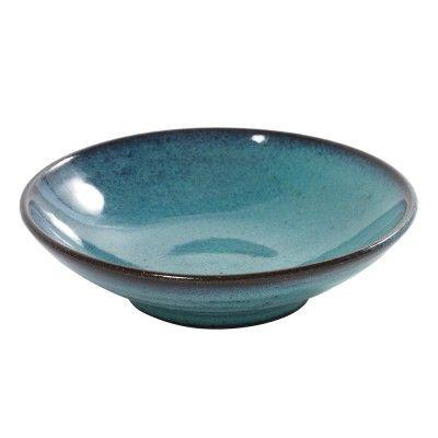 Cup flat Aqua turquoise Ø15 cm (set of 6)