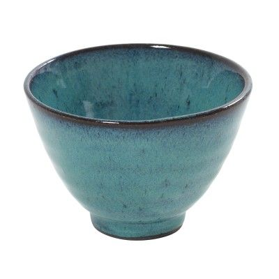 Cup conic Aqua turquoise Ø11 cm (set of 6)