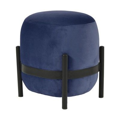 Vega pouffe black & night blue ENOstudio