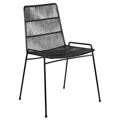 Chaise Abaco noir & structure noire (lot de 2)