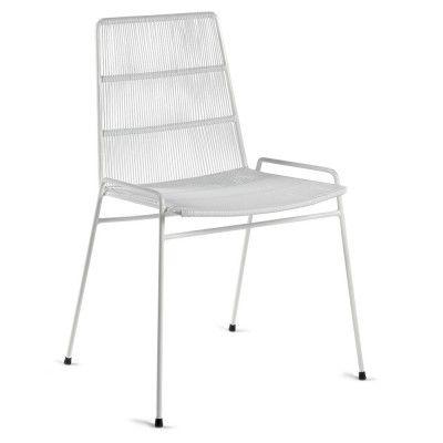 Chaise Abaco blanc & structure blanche (lot de 2)