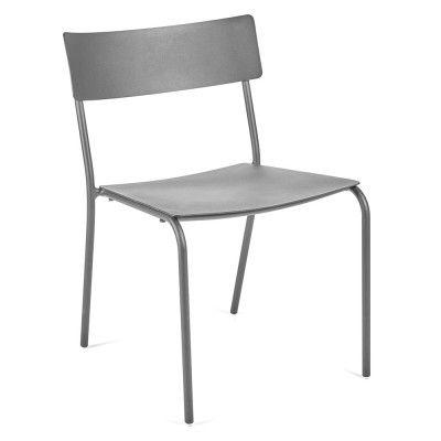 Chaise August gris (lot de 2)