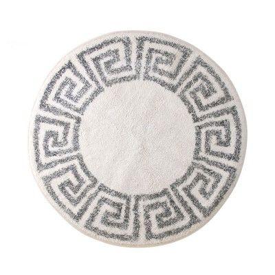 Tapis de bain rond Greek key 80cm