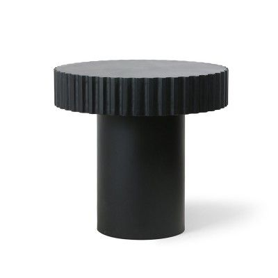Pillar round coffee table black