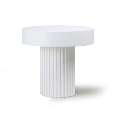 Pillar round coffee table white