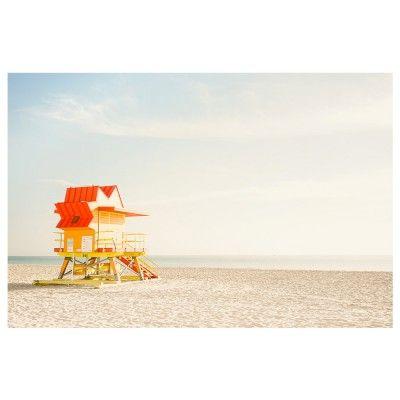 Miami Beach - fauteuils jaunes poster