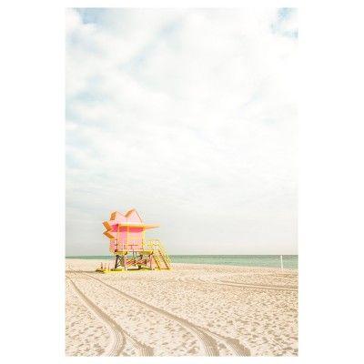 Miami Beach - Cabine rouge poster