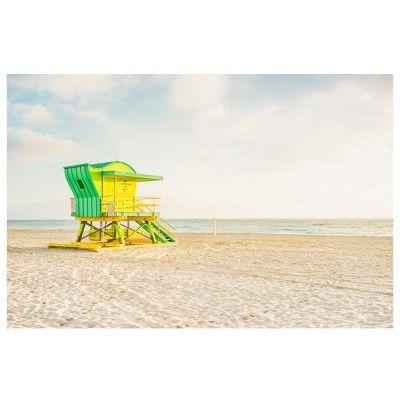 Miami Beach - Cabine verte poster