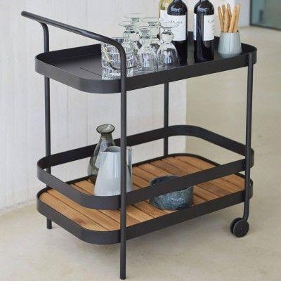 Roll bar trolley grey