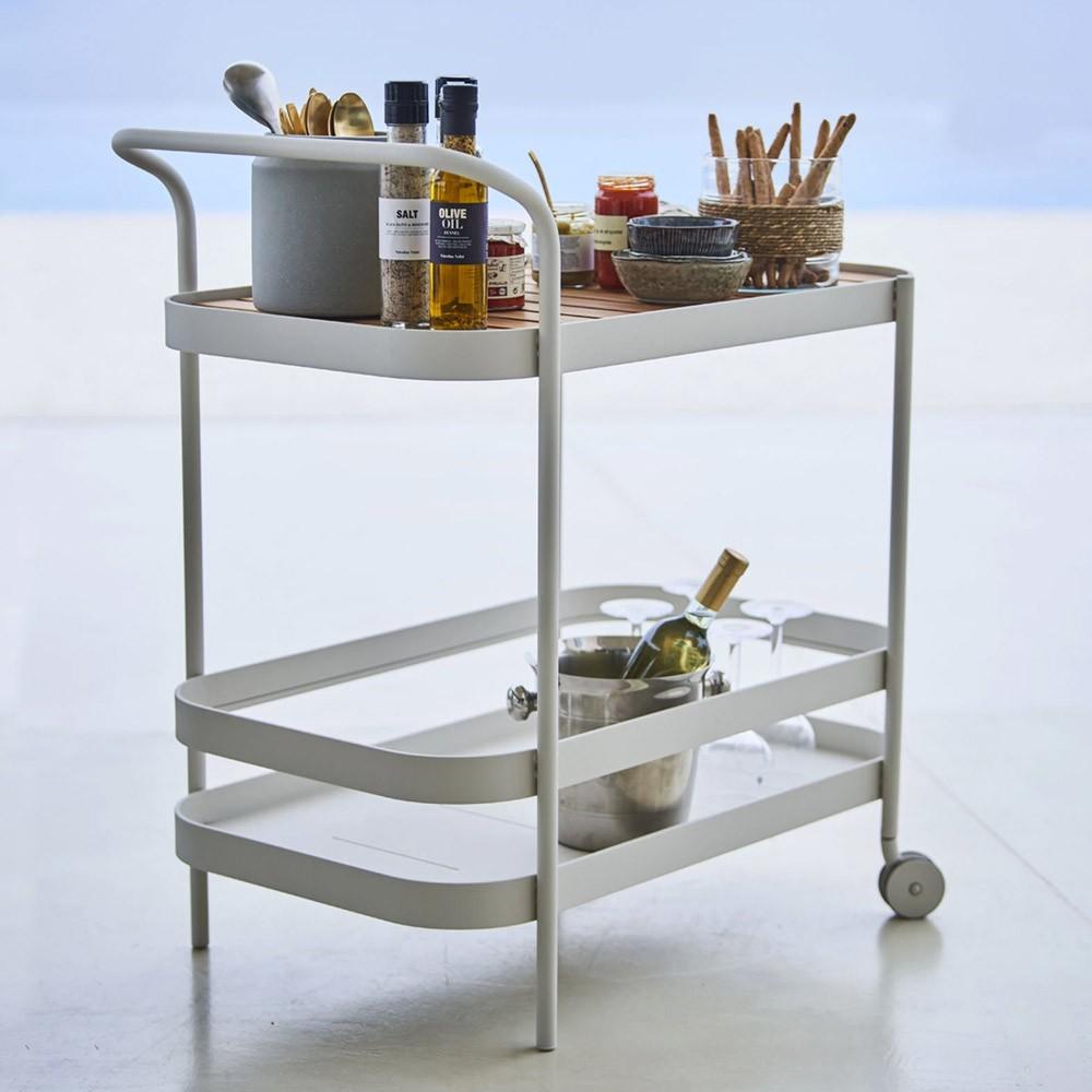 Roll bar trolley white