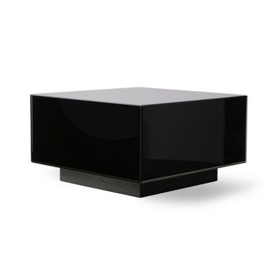 Mirror block table black L