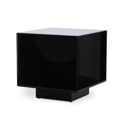 Mirror block table black M