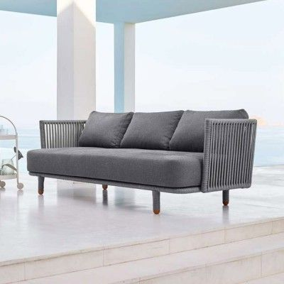 Moments 3-seater sofa grey