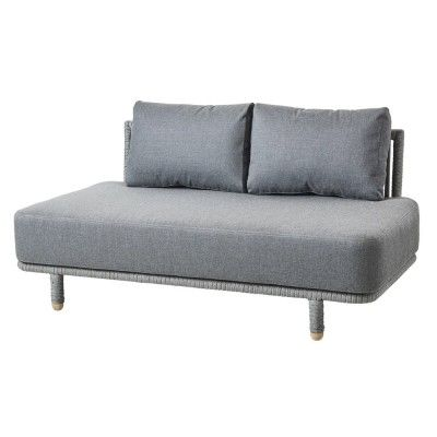 Moments 2-seater sofa module grey