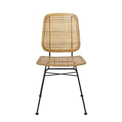 Laurel dining chair natural rattan (set of 2)