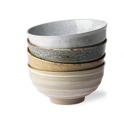 Noodle japanese bowls (set of 4)