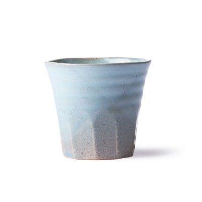 Bold & Basic ceramic mug grey/blue (set of 6) HK Living
