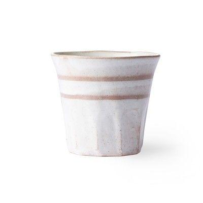 Bold & Basic ceramic mug white/terra (set of 6) HK Living