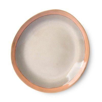 Ceramic 70's side plate earth Ø22 cm (set of 6) HK Living