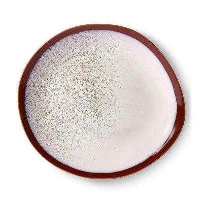 Ceramic 70's side plate earth Ø29cm (set of 6) HK Living
