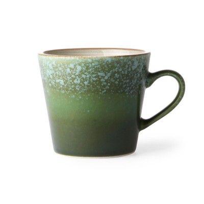 Ceramic 70's cappuccino mug grass (set of 4) HK Living