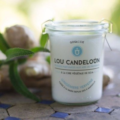 Scented candle 120g Ginger and verbena Lou Candeloun