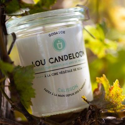 Scented candle 120g Calisson Lou Candeloun