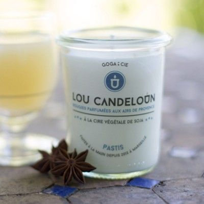 Scented candle 120g Pastis Lou Candeloun