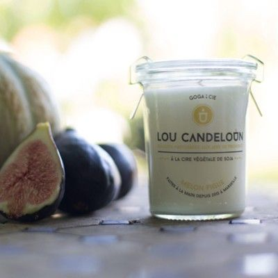 Scented candle 120g Melon and fig Lou Candeloun