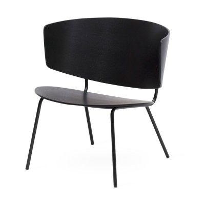 Herman lounge chair black Ferm Living