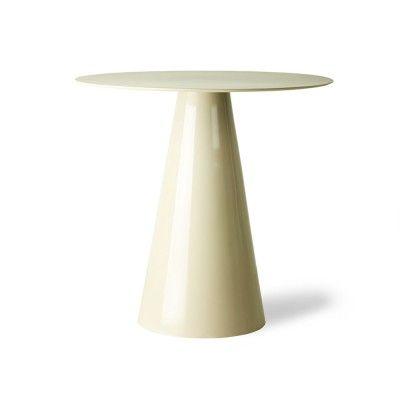 Cream metal side table L HK Living