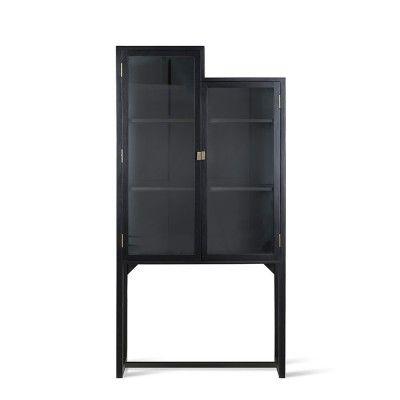 Cabinet Showcase bois noir HK Living