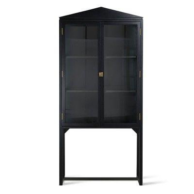 Cabinet à crête Showcase bois noir HK Living