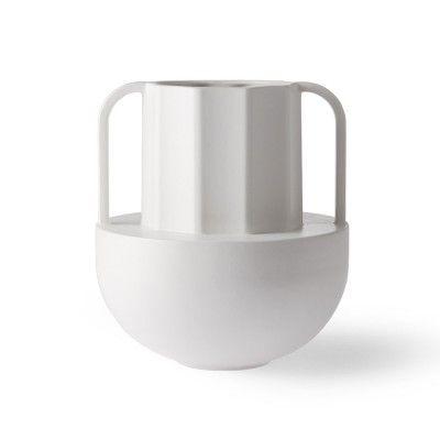 Greek ceramic vase white D HK Living