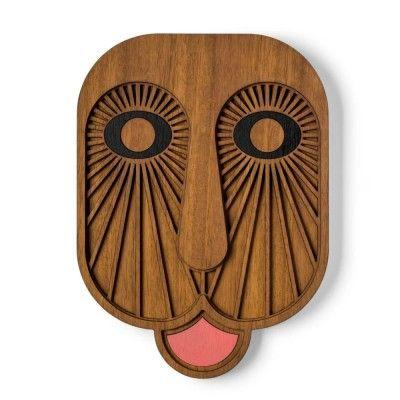 Modern African natural mask n°6 Umasqu