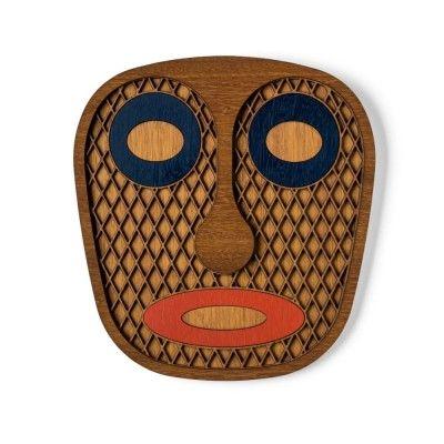 Modern African natural mask n°7 Umasqu