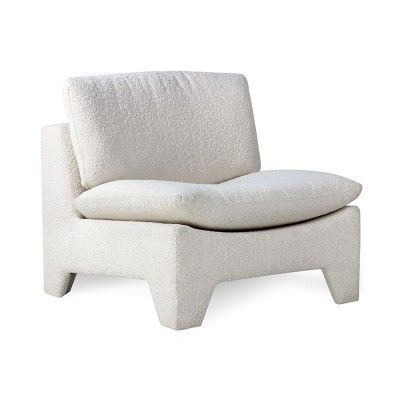 Retro lounge armchair boucle cream HK Living