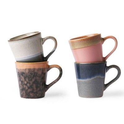 Tasse à Espresso en céramique 70's (lot de 4) HK Living