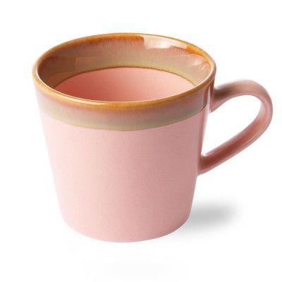 Tasse à Cappuccino en céramique 70's rose HK Living