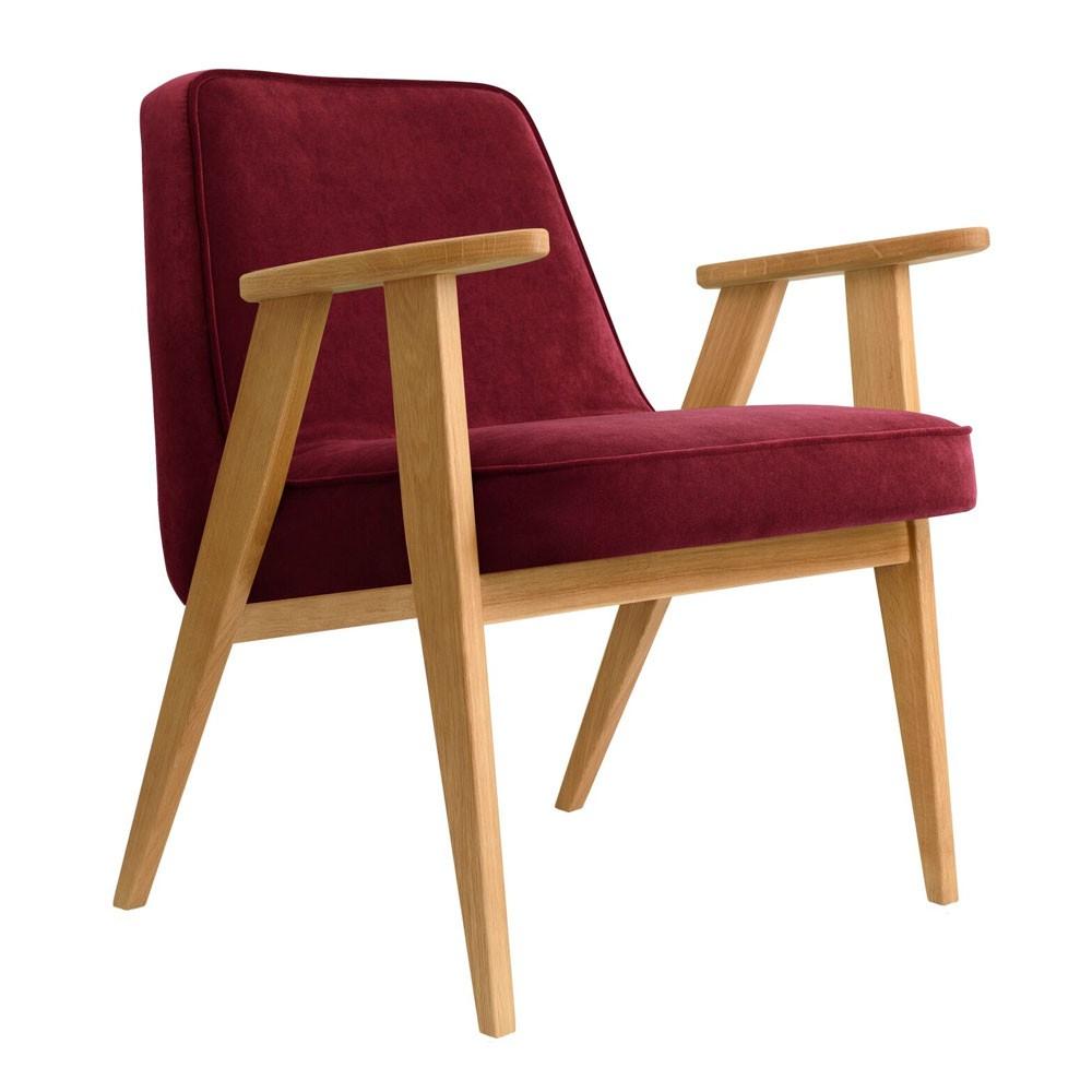 366 Velvet armchair merlot
