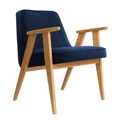 366 Velvet armchair indigo