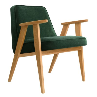366 Velvet armchair bottle green