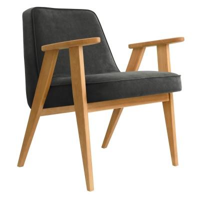 366 Velvet armchair graphite